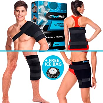 Large Ice Pack Hot Cold - Flexible Shoulder Ice Pack Wrap - Body Ice Pack for Knee and Hip Replacement - Reusable Gel Pad...