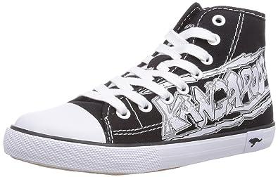 KangaROOS KangaVulcT 2053, Unisex-Kinder Sneakers, Schwarz (black 500), 35 EU