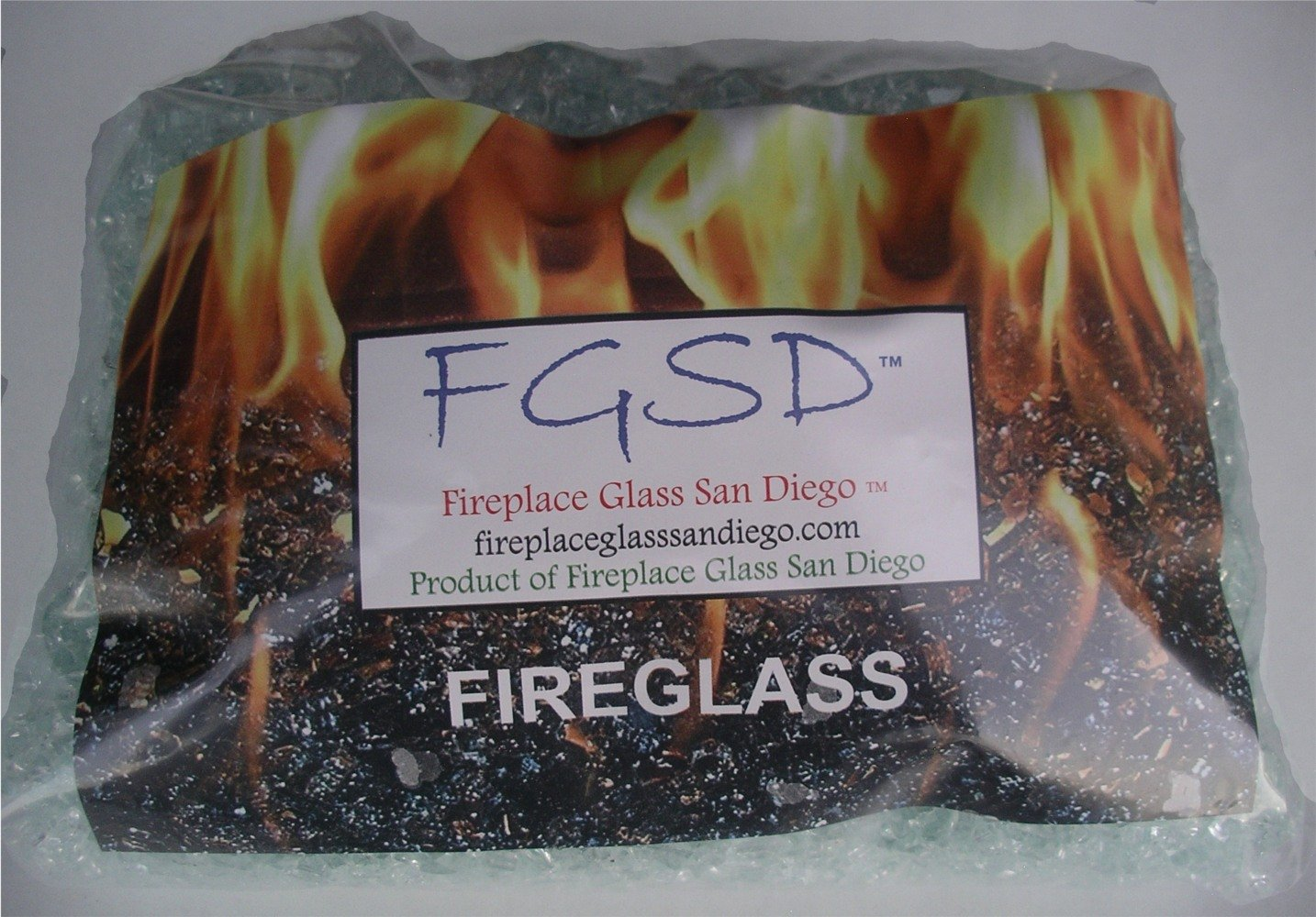 Fireplace Glass, 15 Cobalt ~3/8-1/2'' + 35 Clear Base , 50 LBS Total