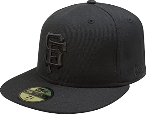 best website 728a5 69043 Image Unavailable. Image not available for. Color  MLB San Francisco Giants  Black on Black 59FIFTY Fitted Cap ...