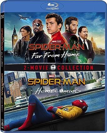 Amazon Com Spider Man Far From Home Spider Man Homecoming Set Blu Ray Tom Holland Michael Keaton Robert Downey Jr Marisa Tomei Jon Favreau Gwyneth Paltrow Zendaya Samuel L Jackson Jake Gyllenhaal Jacob Batalon