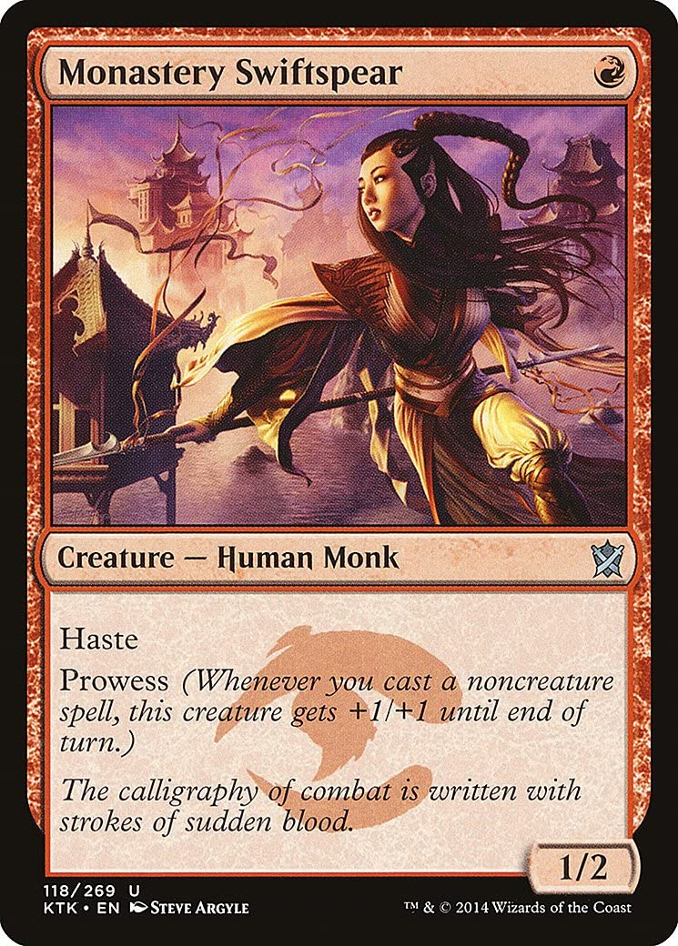 Monastery Swiftspear M//NM Magic The Gathering MTG Khans Of Tarkir