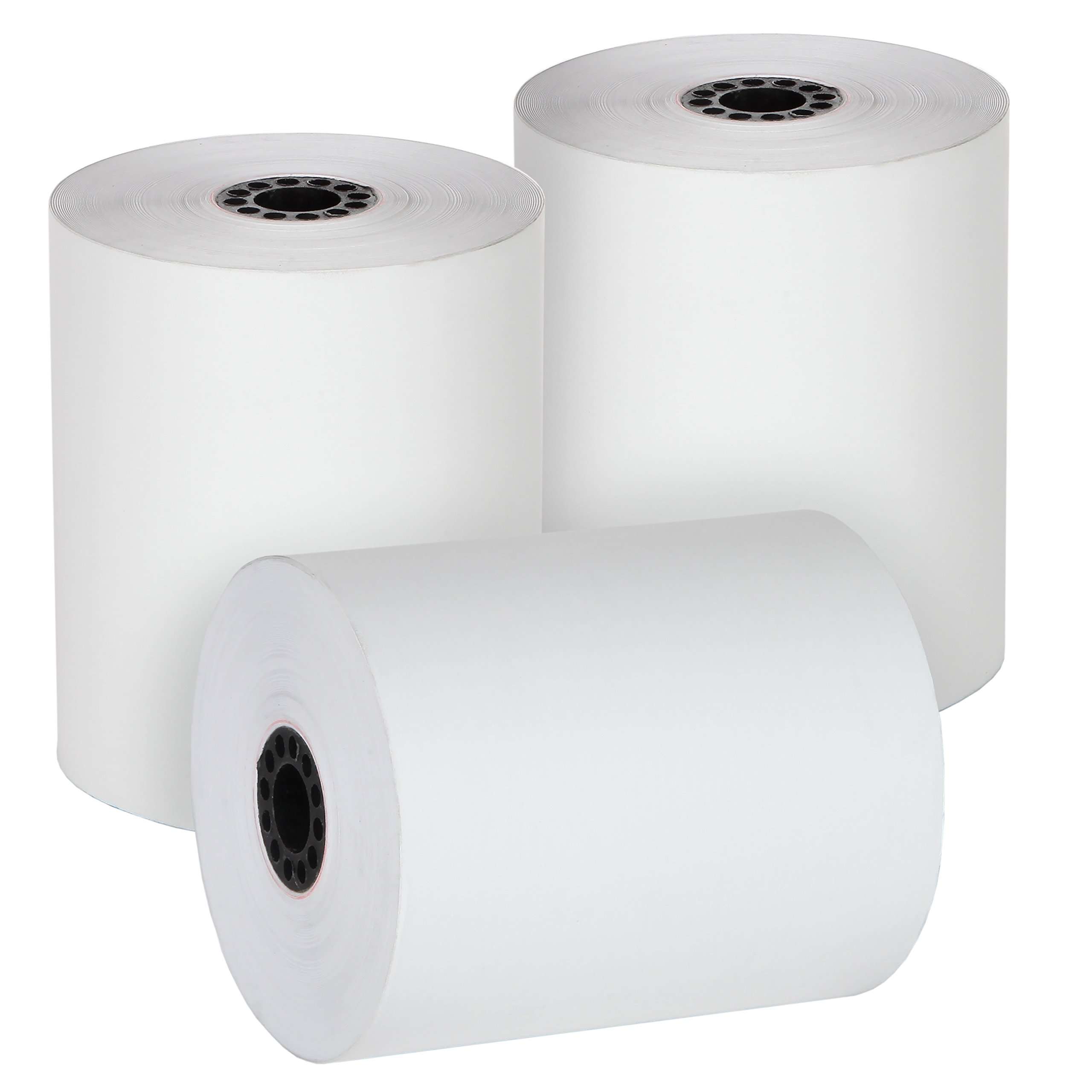 FHS Retail 3 1/8'' x 230' Guaranteed Length Thermal Receipt Paper Rolls (50 Rolls) - For Most Receipt Printers, POS Systems, And Cash Registers by FHS Retail