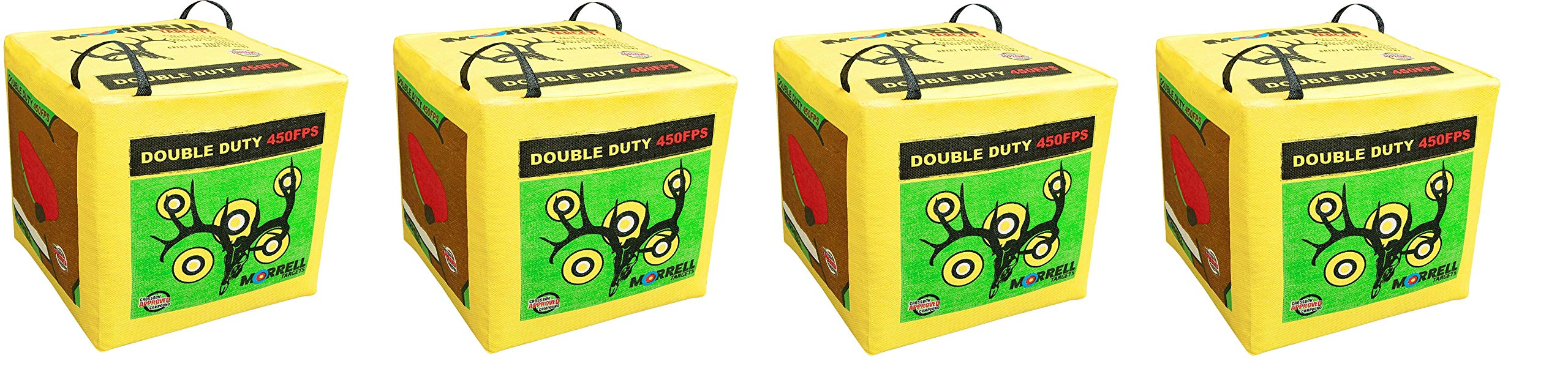 Morrell Double Duty 450FPS Field Point Bag Archery Target - for Crossbows, Compounds, Traditional Bows and Airbows (4-Pack) by Morrell