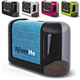 POWERME Electric Pencil Sharpener - Pencil Sharpener Battery Powered for Kids, School, Home, Office, Classroom, Artists – Bat