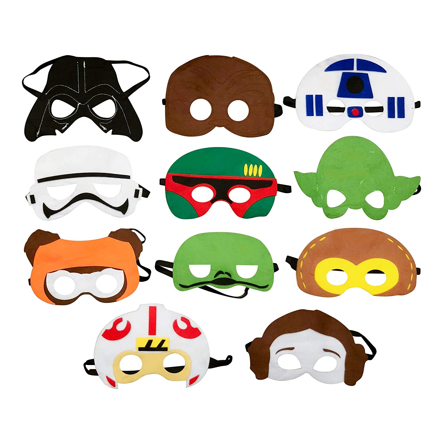 Lollipop Toys Star Wars Inspired Party Masks for Children's Birthday's and Holiday's