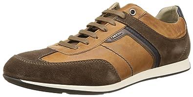 Geox U Clemet B, Zapatillas para Hombre, Marrón (Browncotto/ebonyc6g6z), 46 EU