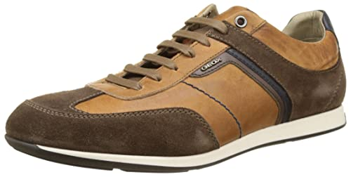 CLEMET - Sneaker low - cognac/browncotto