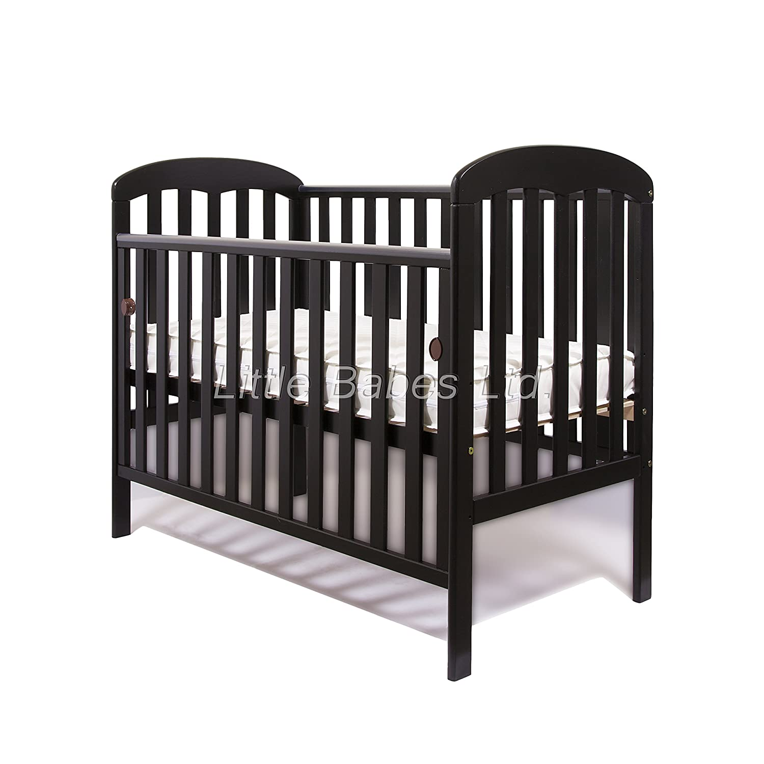 New Little Babes Ltd Mia Dropside Baby Cot Only (black) mia cot only
