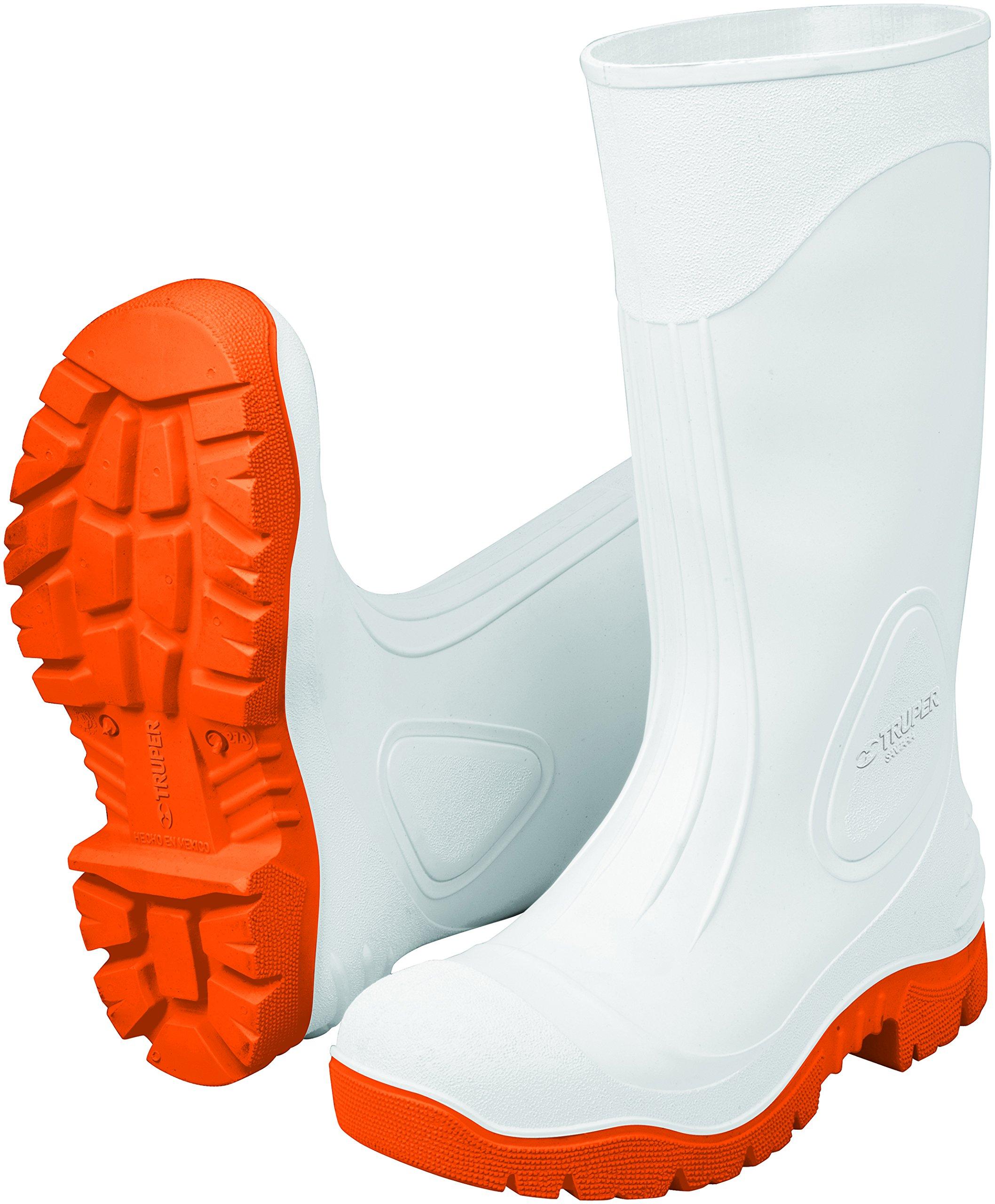 TRUPER BOT-27S White Rubber Work Boots. Size 9