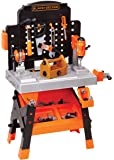 BLACK + DECKER Power Tool Workshop - Play Toy Workbench for Kids with Drill, Miter Saw and Working Flashlight - Build…