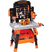 Black+Decker Junior Power Workbench Workshop with Realistic Action Lights & Sounds - 75 Tools & Accessories [Amazon Exclusive]