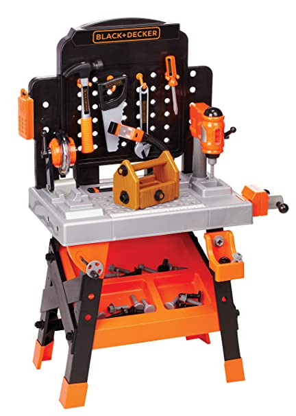 Astonishing Decker Power Tool Workshop Play Toy Workbench For Kids With Drill Miter Saw And Working Flashlight Build Your Own Tool Box 75 Realistic Toy Frankydiablos Diy Chair Ideas Frankydiabloscom