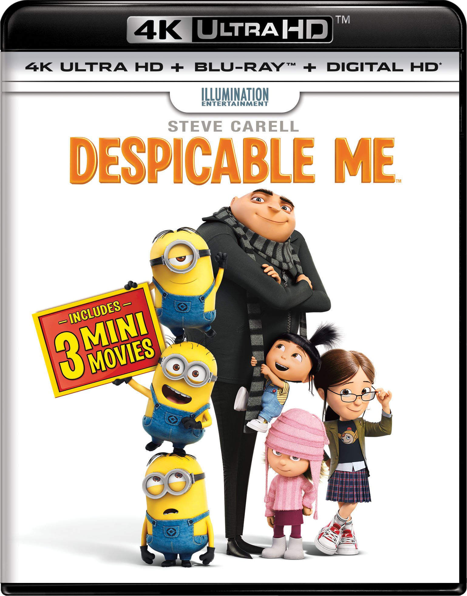 4K Blu-ray : Despicable Me (With Blu-Ray, Ultraviolet Digital Copy, 2 Pack, Digital Copy, 4 Pack)