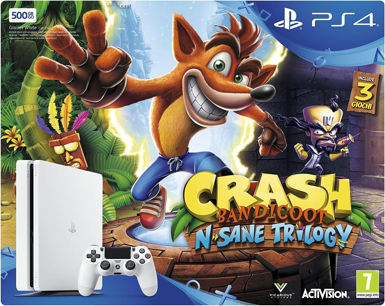 Sony PlayStation 4 Slim 500GB + Crash Bandicoot N. Sane Trilogy ...