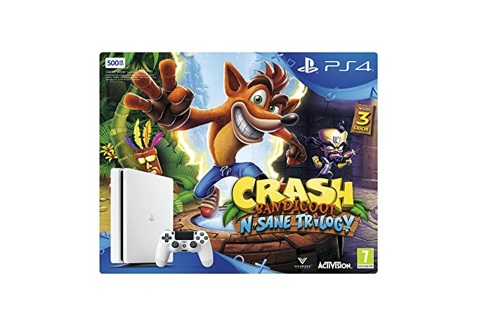 52986a50c6ba26 PlayStation 4 500GB White + Crash Bandicoot N-Sane Trilogy [Bundle]:  Amazon.it: Videogiochi