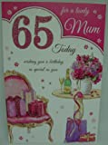 For A Lovely Mum On Your 65th Birthday Card Presents and Flowers