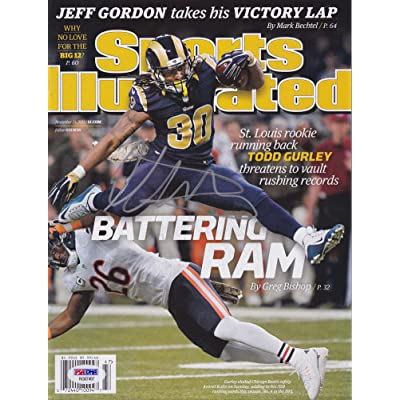 meet afdcc 1d8b1 Todd Gurley Signed Sports Illustrated Magazine St Louis Rams ...