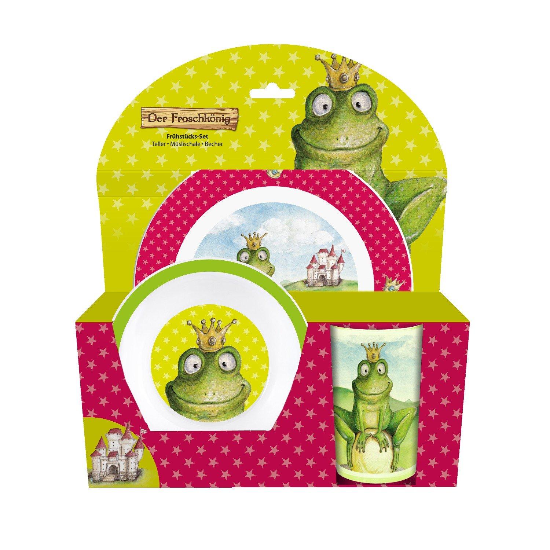 Der Froschkönig Frühstückset 3teilig Teller Schüssel Becher P:OS