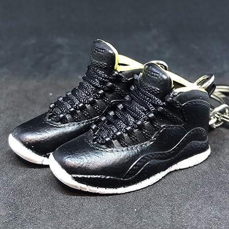 the latest 81fc7 b73a1 Amazon.com  Pair Air Jordan X 10 High Retro Venom Green Black OG Sneakers  Shoes 3D Keychain 1 6 Figure  Everything Else