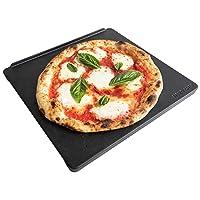 NerdChef Speed Steel Pro - High Performance Pizza Baking Stone - Built-in Handles & Speed Heating Fins (.90