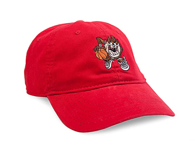 Image Unavailable. Image not available for. Color  Concept One Accessories Looney  Tunes Embroidered Taz Adjustable Washed Baseball Cap f889417e410