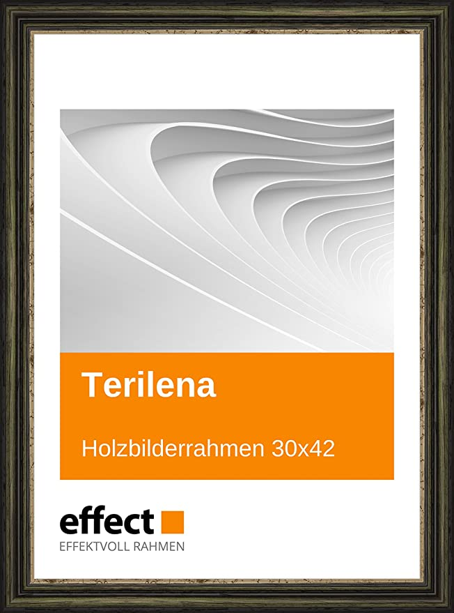 Effect Bilderrahmen Terilena Grün Gold Bilderrahmen Holz 30x42 ...
