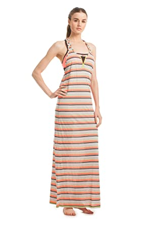 6a90d6dcd6e Trina Turk Women s Maxi Dress Hot Coral Dress SM (US ...