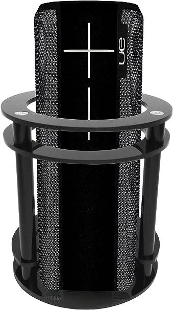 FitSand Speaker Holder Guard Stand Station for Logitech Ultimate Ears UE Boom 2 Speaker Black I and II 2 Gen