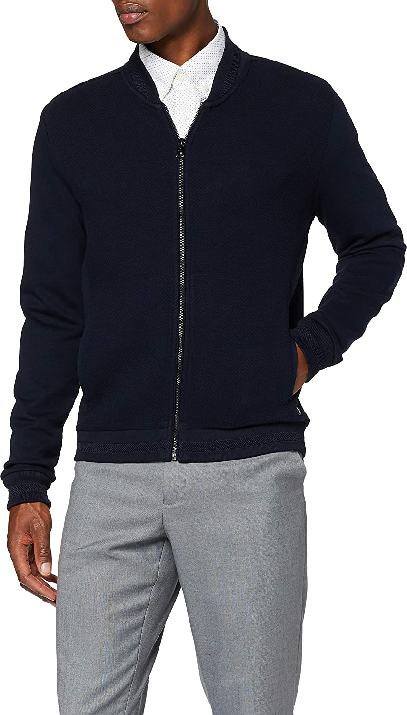 Pierre Cardin Herren Futureflex Sweatshirt Collegejacke Struktur Strickjacke