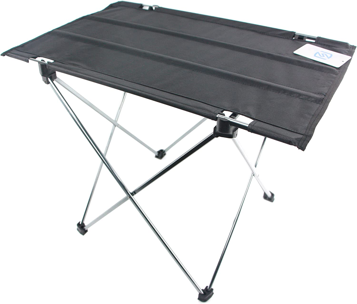 ASHVIEE Easy Table, Ultralight Camping Table, Portable Light Weight Folding for Outdoor Activities Black
