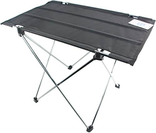 CampLand Outdoor Folding Table Aluminum Lightweight Height Adjustable with Storage Organizer for BBQ, Party, Camping Grey