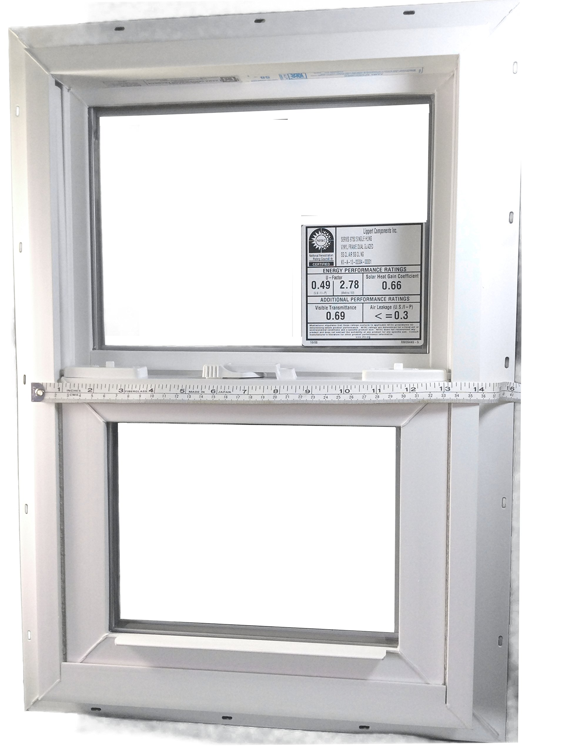 Mobile Home Window 14X21 Insulated Vinyl Thermopane Lower Tilt Sash Screen Included by Kinro