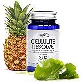 Cellulite Resolve Rush. Integratore anticellulite in capsule con Centella e Bromelina (ananas) per 1 mese di trattamento. Forte ed efficace azione drenante, dimagrante e vasotonica