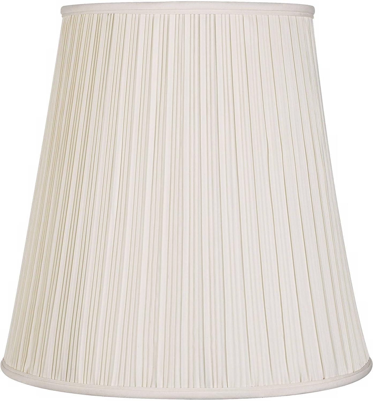 Creme Mushroom Pleat Lamp Shade 12x18x18 (Spider) - Springcrest