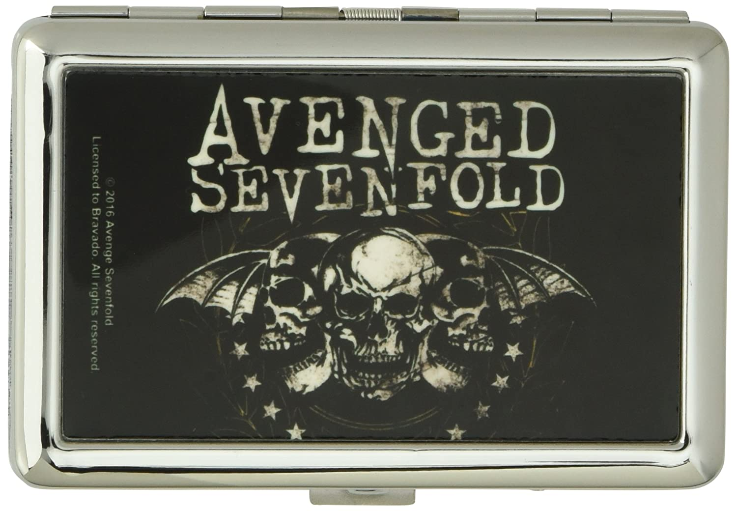 AVENGED SEVENFOLD Metal Multi-Use Wallet Business Card Holder - Triple Deathbat Crest Buckle-Down BCH-LG-ASFI