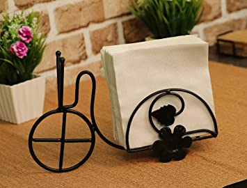 Worthy Shoppee Beautiful Design 1 Compartments Tissue Box & Napkin Holder Rickshaw Design