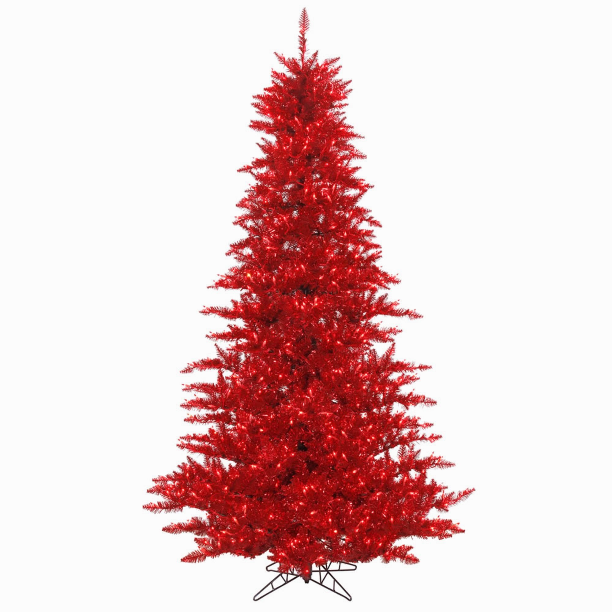 Artificial Christmas Tree. Fake 3ft Xmas Fully Decorated Unlit Tinsel Red Fir Christmas Tree. Compact, With Lush Branches & Natural Look. Great For Indoor, Holiday Season Party Decor. Festive Mood. by Artificial-Christmas-Tree