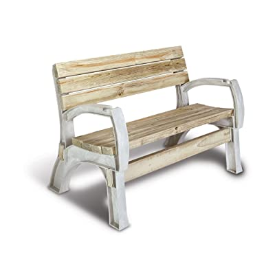2x4basics 90134ONLMI Custom AnySize Chair or Bench Ends, Sand (lumber not included, only supports) : Outdoor Benches : Garden & Outdoor