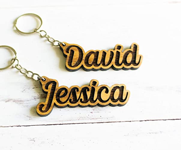 Laser Cut Wood Keychains Wood Quote Keychains Engraved Keychain laser engraved wood Funny Sayings Stocking Stuffer made in Hawaii