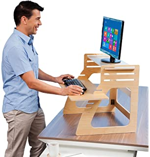 Good Well Desk Adjustable Standing Desk Riser   Simple And Solid Stand Up Desk  Converter   Made Nice Ideas