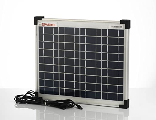 Sparkel 10W Solar Panel With 3 Meter Moulded Long Wire For DC Connection