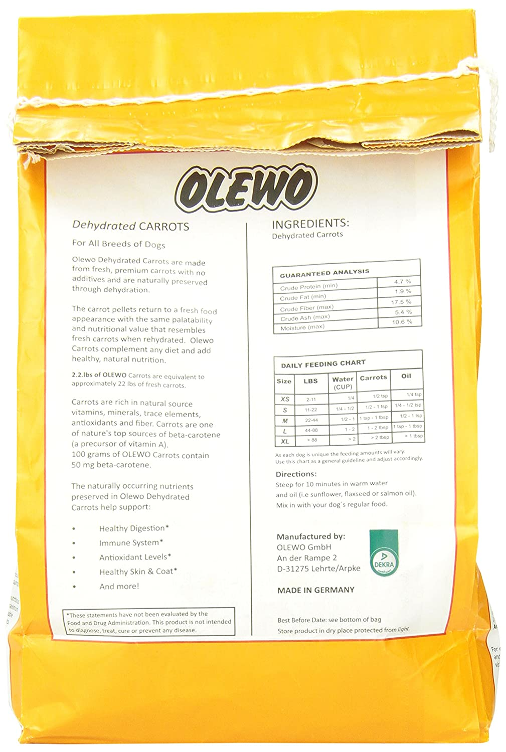 Toddler poo colour chart - Olewo 12110 2 2 Pound Dehydrated Carrots Dog Food Supplement Amazon Ca Pet Supplies