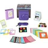 Polaroid Accessories. Polaroid Camera PIC-300 Instant Film Bundle, 9 PC Kit Includes: Polaroid Case + Strap + Photo Album + Standing Album + Wall Hanging Frames + 60 Stickers + 5 Frames, + Gift Box.