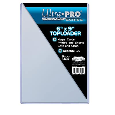"Ultra Pro 6"" X 9"" Toploader 25ct: Sports & Outdoors"