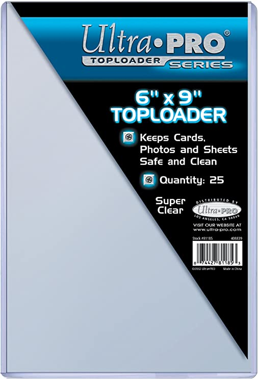 Erwachsene Toploaders 81185 farblos 6x9 Ultra Pro Unisex/