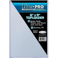 Ultra Pro Toploaders 6 Cargadores Superiores de 9 Pulgadas (25 Unidades), Unisex, Transparente, 6 x 9 Inch