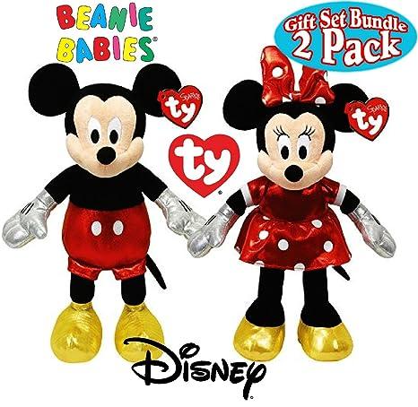 Amazon.com  TY Beanie Babies Sparkle Classic Disney Mickey   Minnie ... f4bb725c74f
