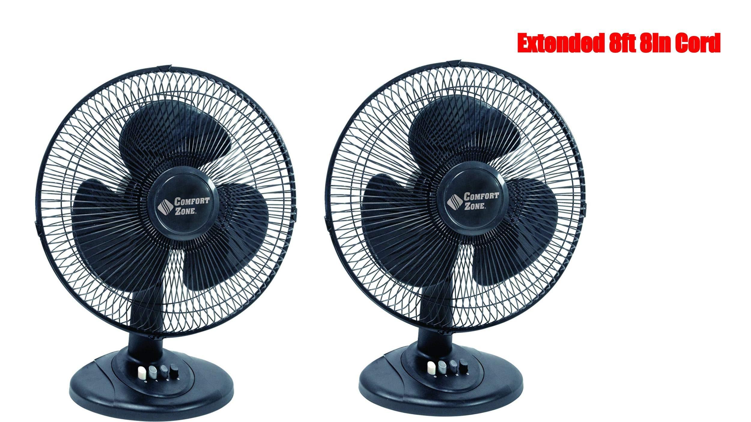 Comfort Zone 12″ Oscillating Fan