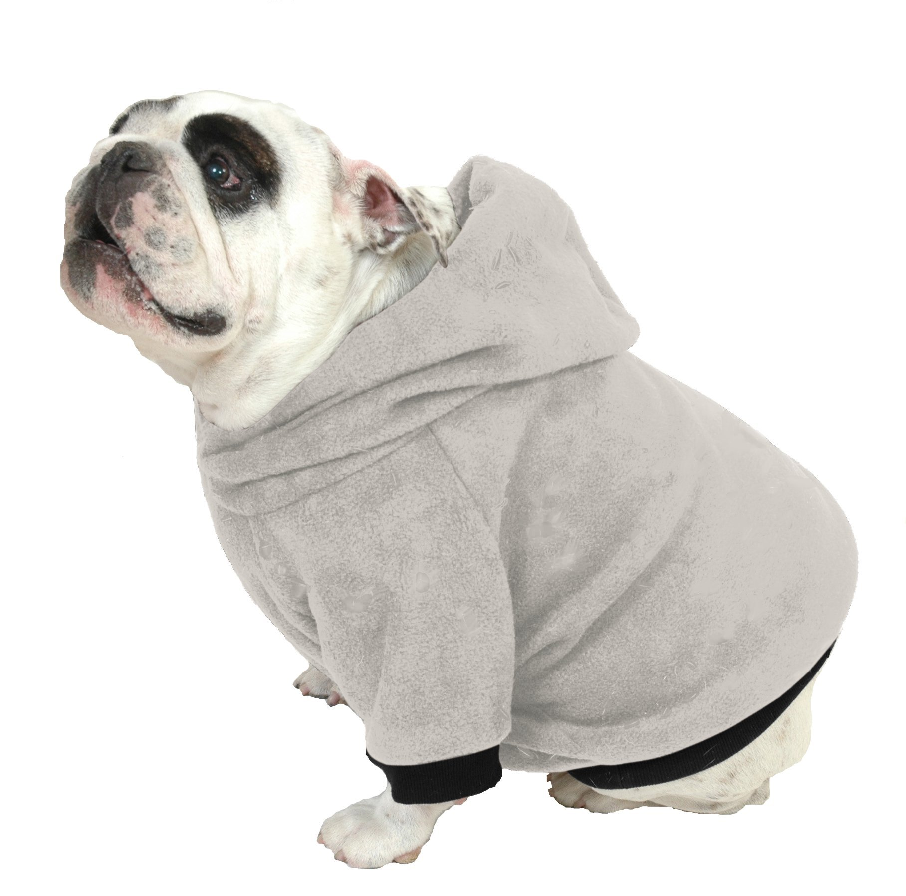 Plus Size Pups English Bulldog Dog Sweatshirts, Beefy and Bigger Than Beefy with More Than 20 Fleece Patterns to Choose